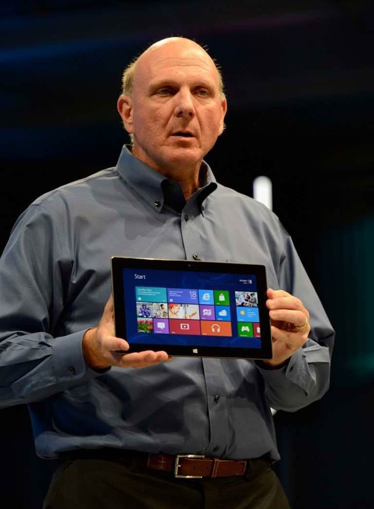 Microsoft CEO Steve Ballmer took to the stage today to reveal a Microsoft-branded tablet running Windows 8.
