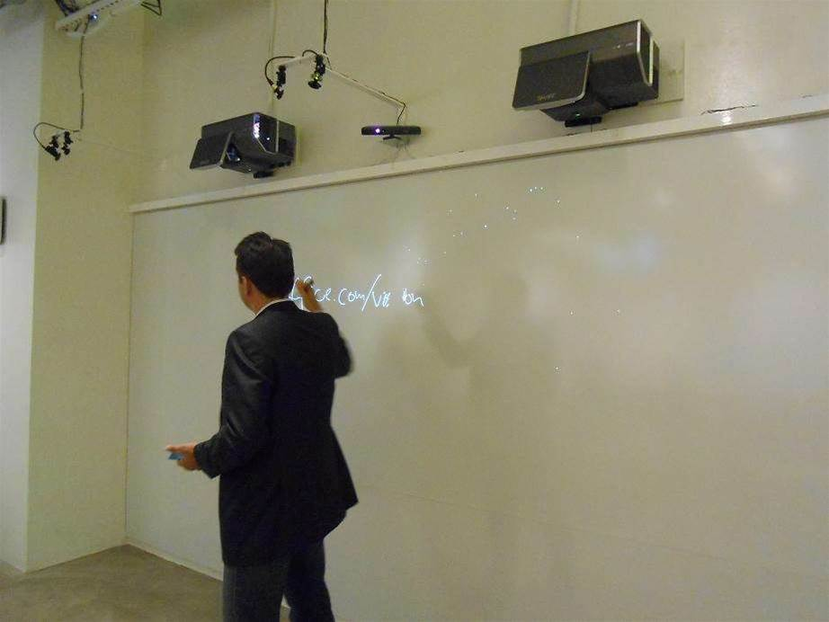 A digital whiteboard. Everyone uses whiteboards, Microsoft says.