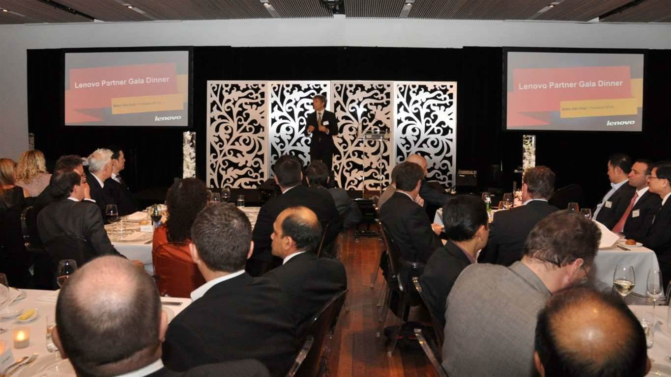 Lenovo last night held a gala event at the Museum of Contemporary Art in Sydney to award its top-performing business partners of 2012.