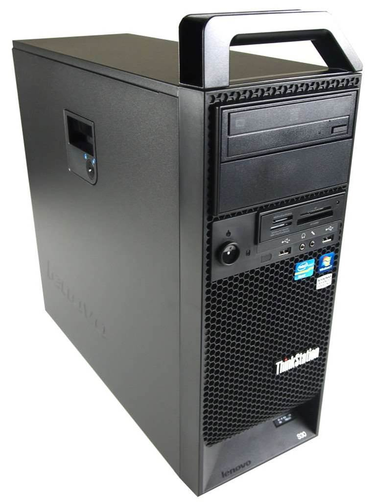<h2>ThinkStation S Series</h2> <p>Lenovo's S Series ThinkStation is targeted at the 'budget user with high performance needs'. The S30 (pictured) runs on Intel's Xeon E5 1600/2600 processor and Nvidia graphics.</p>