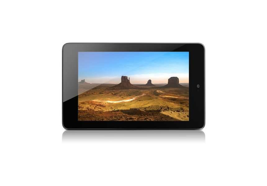 The 7-inch Nexus 7 has a 1,280 by 800 pixel screen and is designed to work with Google's Play music and video stores, and YouTube.