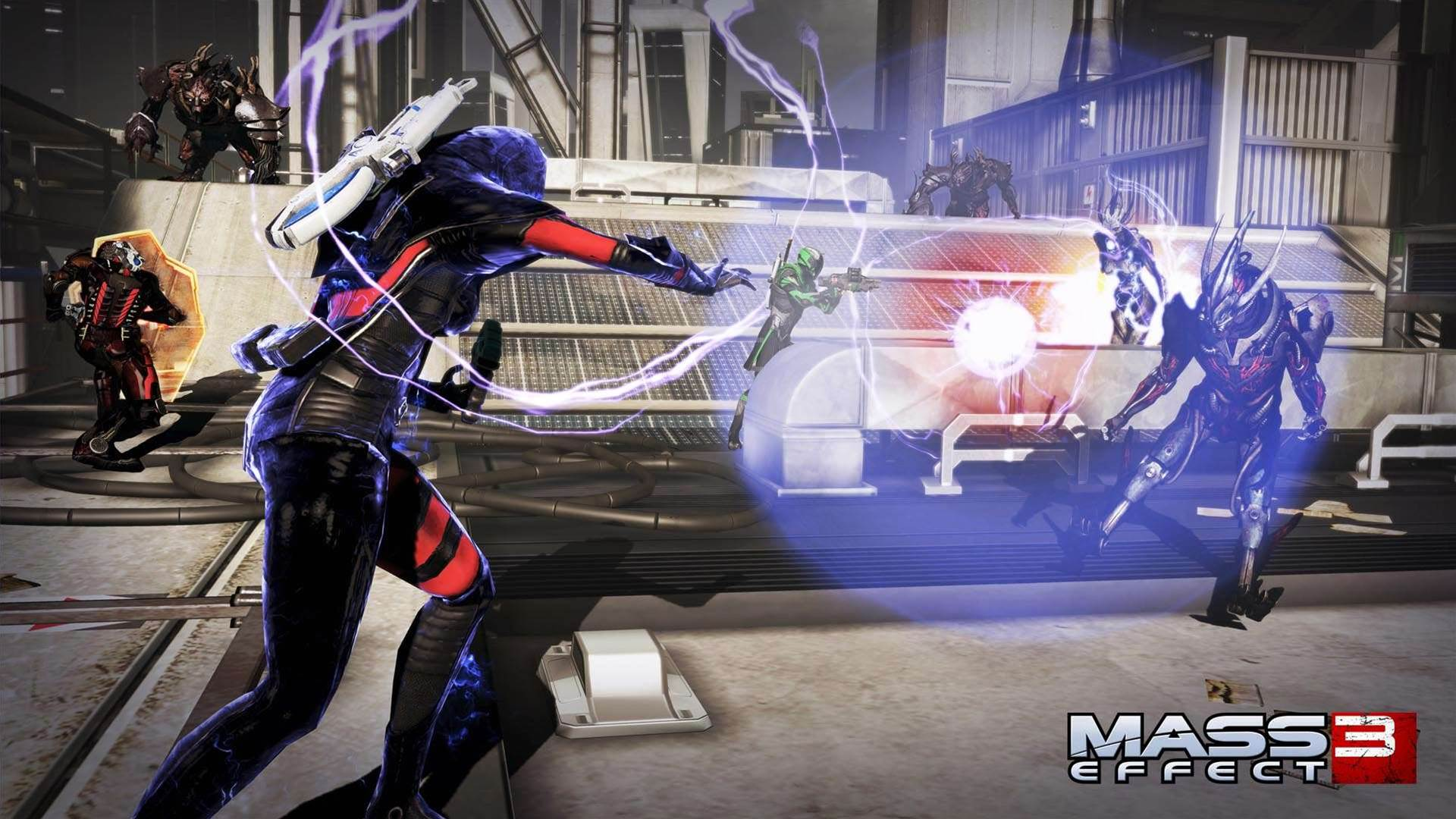 Mass Effect 3: Earth screens