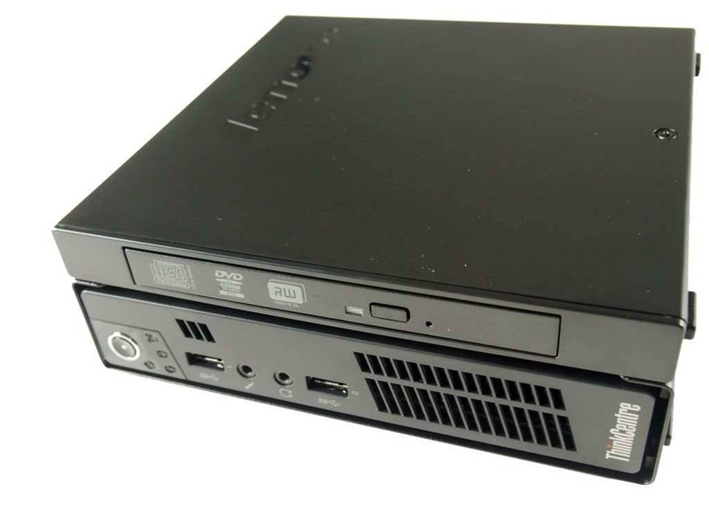 """<h2>Tiny ThinkCentre M92p & M72e</h2> <p>Lenovo unveiled its flagship ThinkCentre M72e and M92p """"Tiny"""" desktops at the CeBIT conference in May. It's being touted as the first one-litre, Intel vPro enabled desktop in a small form factor.</p> <p>The Tiny measures 34.5mm in height - what Lenovo compares to the same size as a golf ball.</p>"""