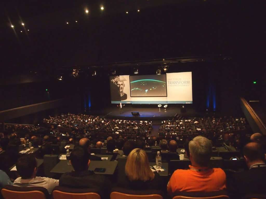 "Delegates arrived in droves to EMC's annual Forum 2012, nearly filling the almost-1000 seat Sydney Convention Centre auditorium this morning. The morning keynote was emceed by futurist Tim Longhurst, and featured the likes of EMC global CTO Chuck Hollis, Cisco APAC VP Les Williamson, and VMware APJ general manager Andrew Dutton. <p>The annual Forum has been running for nine years,and gives EMC's channel and customers the opportunity to hear from EMC's vendor partners on the future of IT.</p> <p>The theme of the conference, 'Transform', was highlighted through Dutton's comments that IT as it used to be done is dead. <p>""The ability to stop doing things that are clearly not serving the business seems to be so hard for IT. Good companies are saying throw it out, virtualise it,"" he said. ""Old IT can't exist anymore, it's inappropriate for the huge amounts of data we're seeing coming through, and when you add the Internet of Things to that, it's only going to get bigger.""</p>"