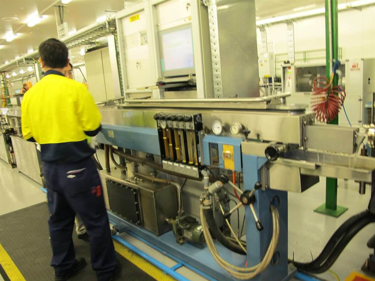 Inside Prysmian's cable manufacturing plant at Dee Why.