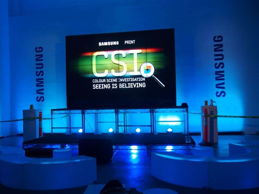 In pictures: Samsung goes all out for printer launch