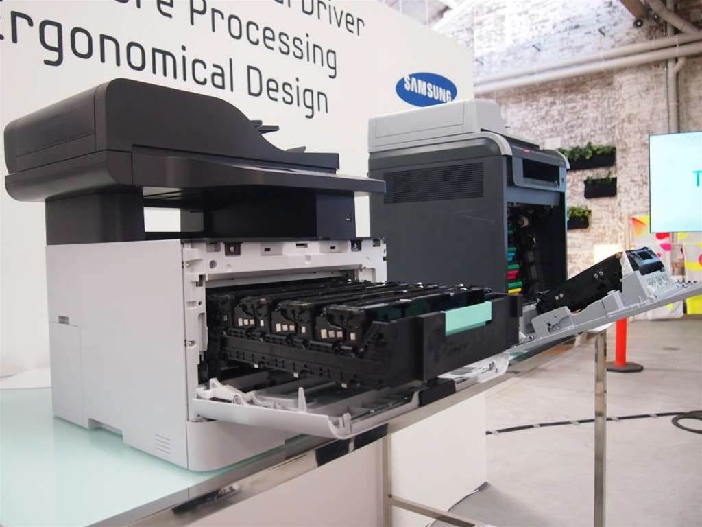 Samsung has managed to shrink its CLX-6260FW more than half its original size with the new model. The new printer weighs just 12kgs, compared to its predecessor's 20kgs - the two are compared side by side in the above image. Samsung told CRN it had rejigged the interior and cartridges to lie flat instead of upright, significantly slimming down the machine. The range includes the CLX-6260FD and 6260FR. Its got a dual CPU, has upgraded to a 4.3in colour touchscreen over traditional buttons, and also includes an anti-jam roller. It retails for $833 and is at the high-end of Samsung's new models.