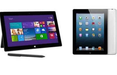 Head-To-Head: Microsoft Surface Pro 2 vs Apple iPad 4