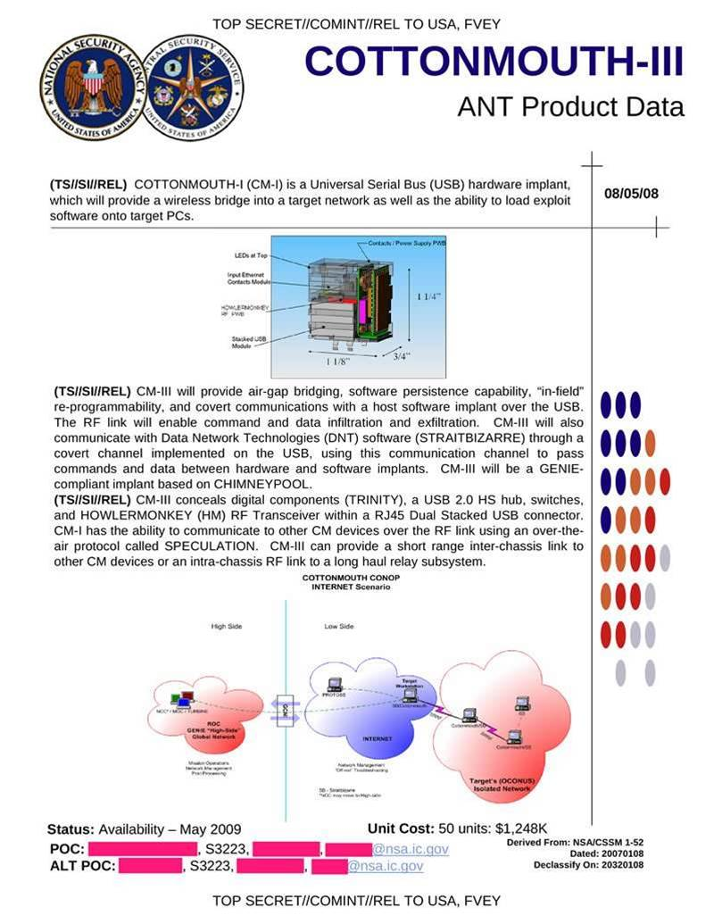 Leaked: Inside the NSA's spyware catalogue