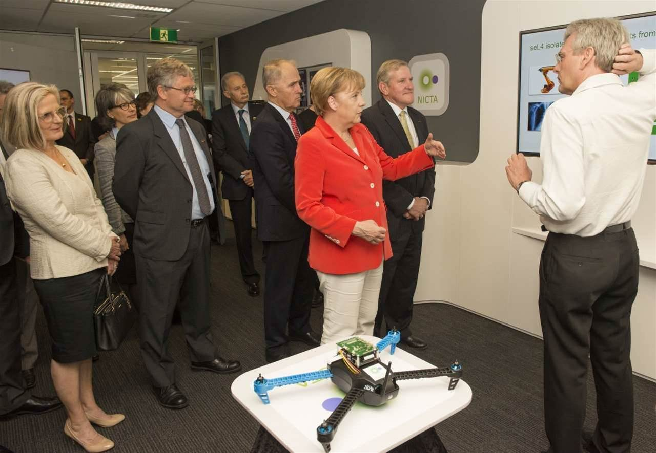 Photos: Angela Merkel tours NICTA