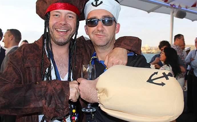 Photos: Naval-gazing at Avnet's pirate party