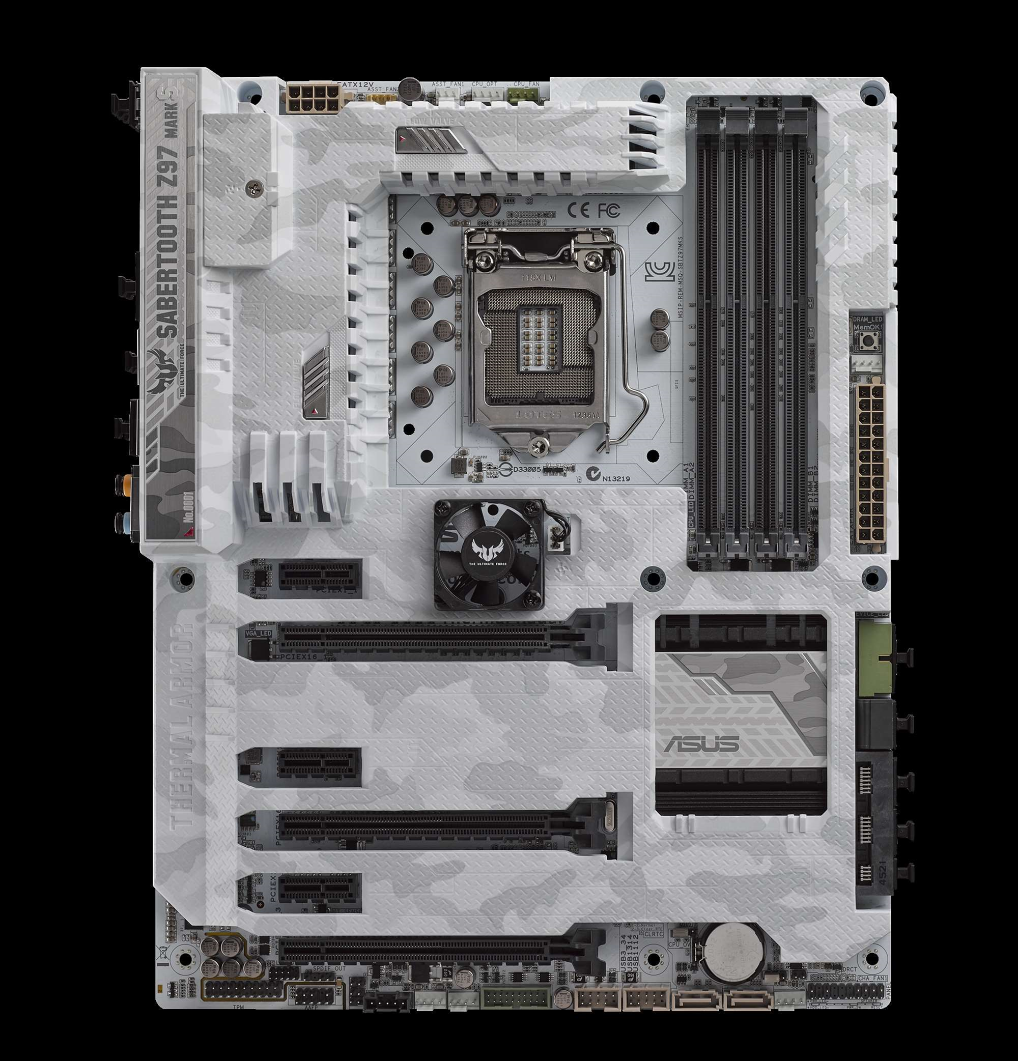The all-white Asus Sabretooth limited edition