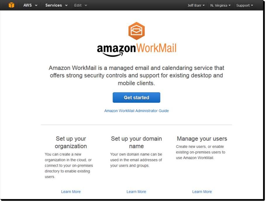 Photos: Amazon's WorkMail