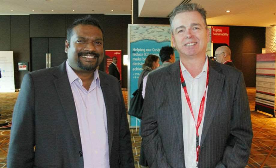 Who was at Fujitsu's World Tour 2015 in Melbourne?