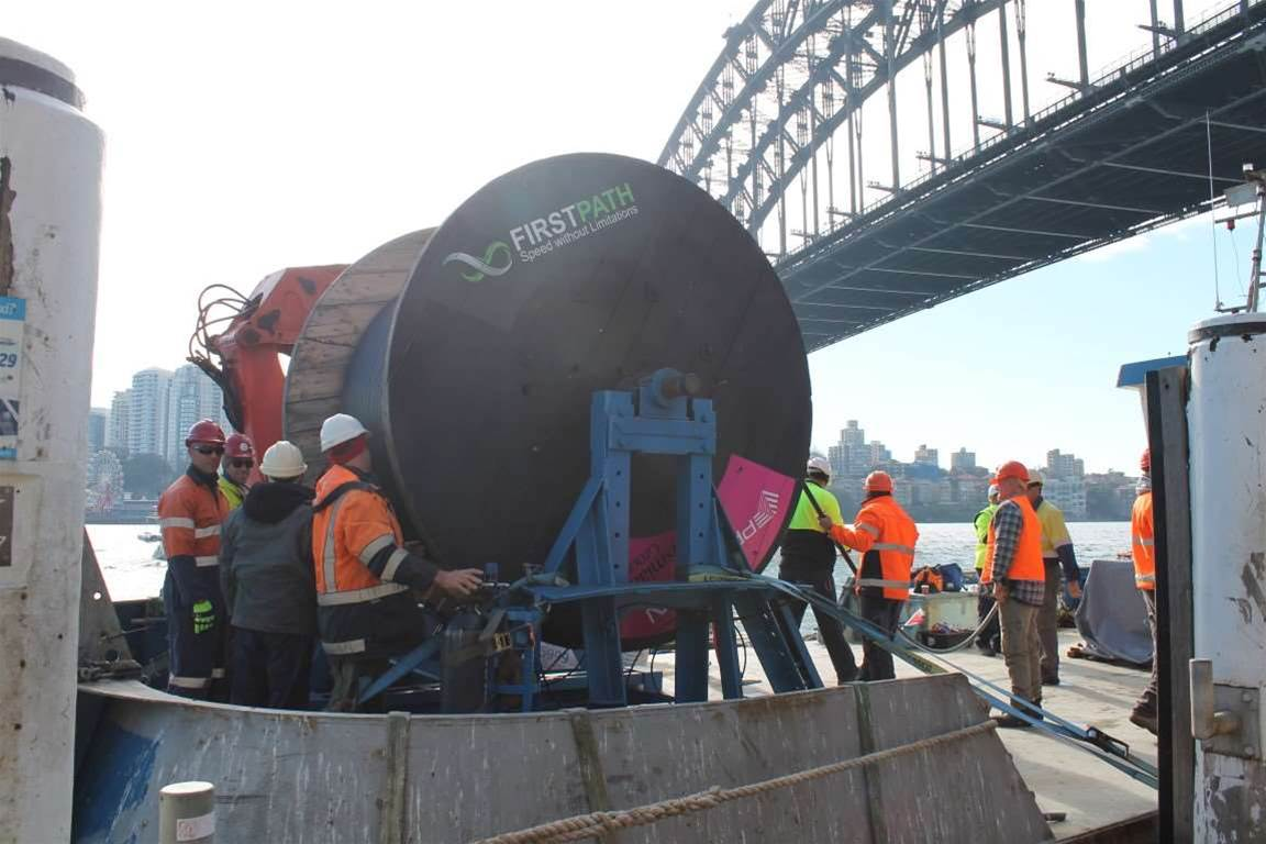 Photos: FirstPath lays new Sydney cable