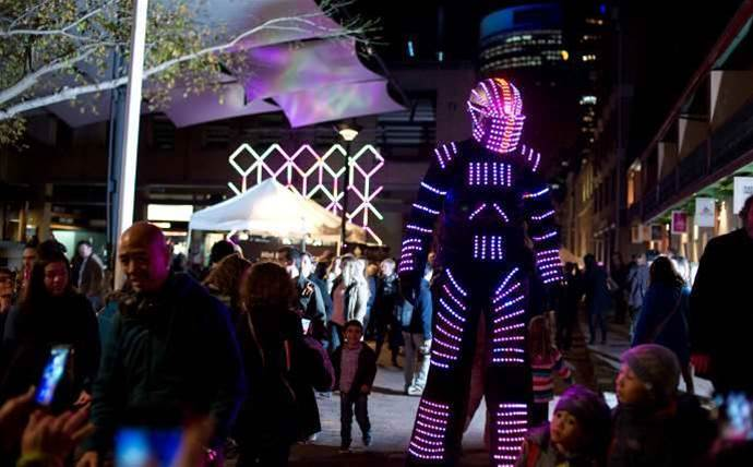 How technology firms lit up Sydney for Vivid 2015