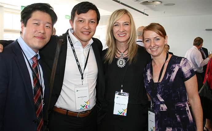 Who was at the IBM partner symposium at Luna Park?