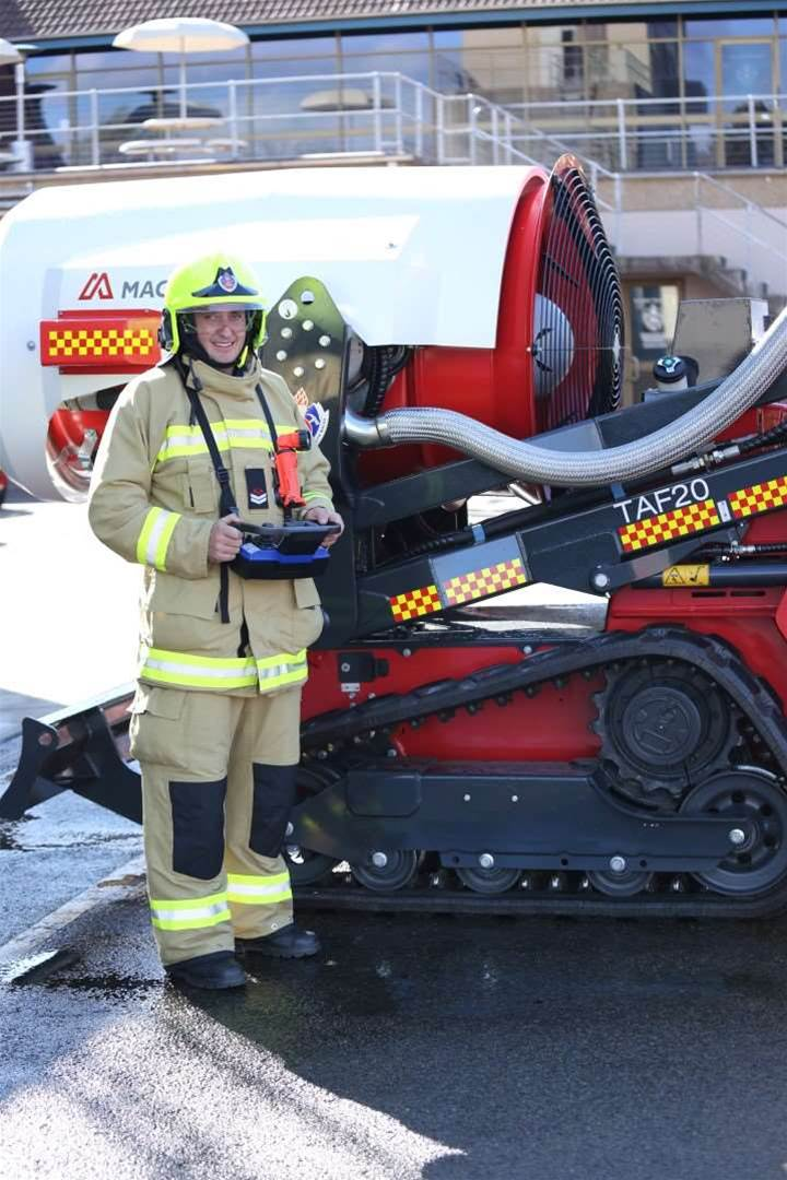 Photos: NSW's fire fighting robot