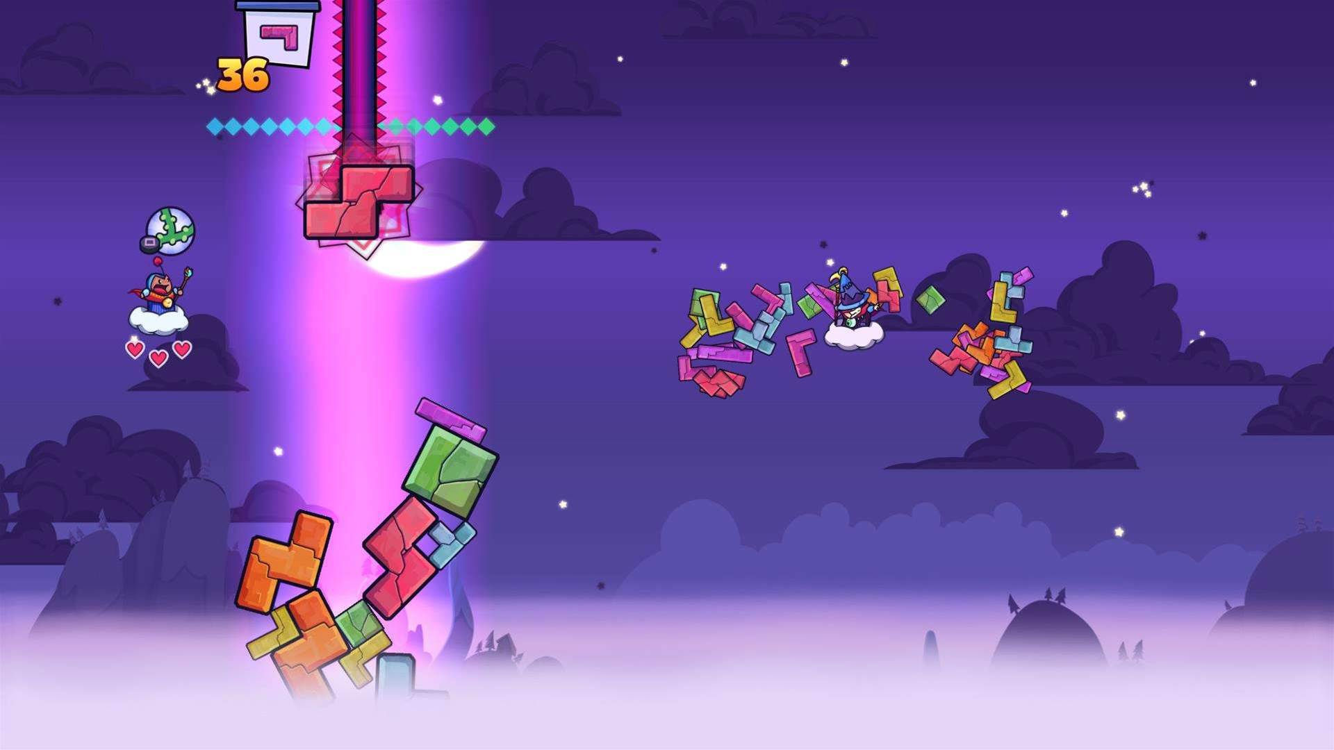 A stack of Tricky Towers screenshots