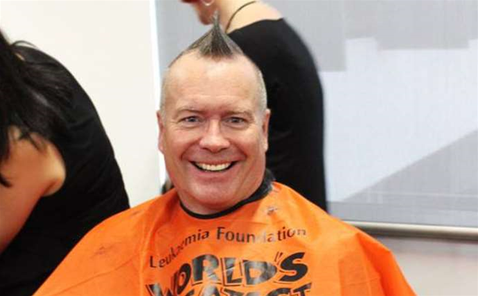 Data#3 chief Laurence Baynham shaves it all off for charity