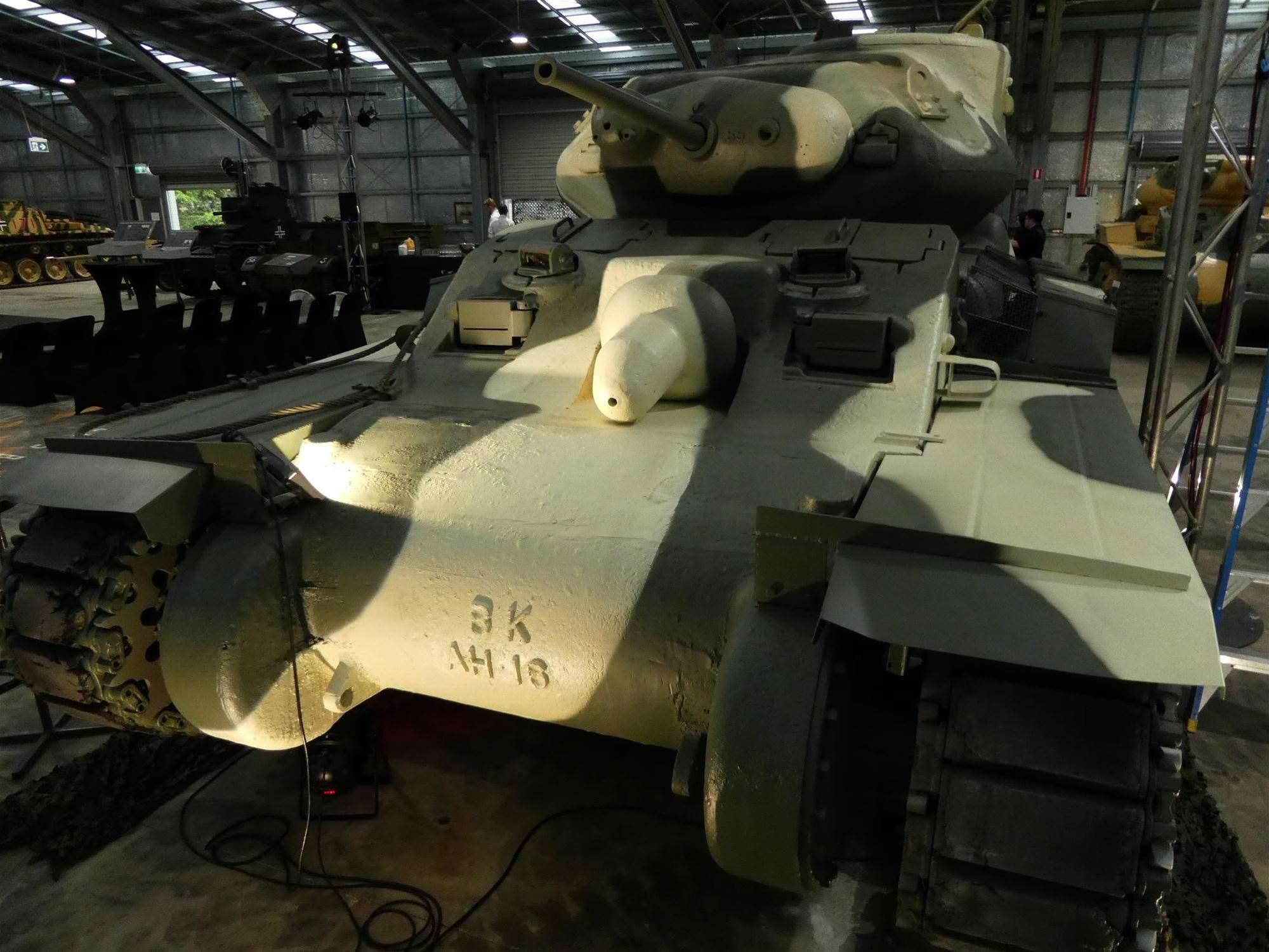 Wargaming's Aussie Sentinal tank restoration