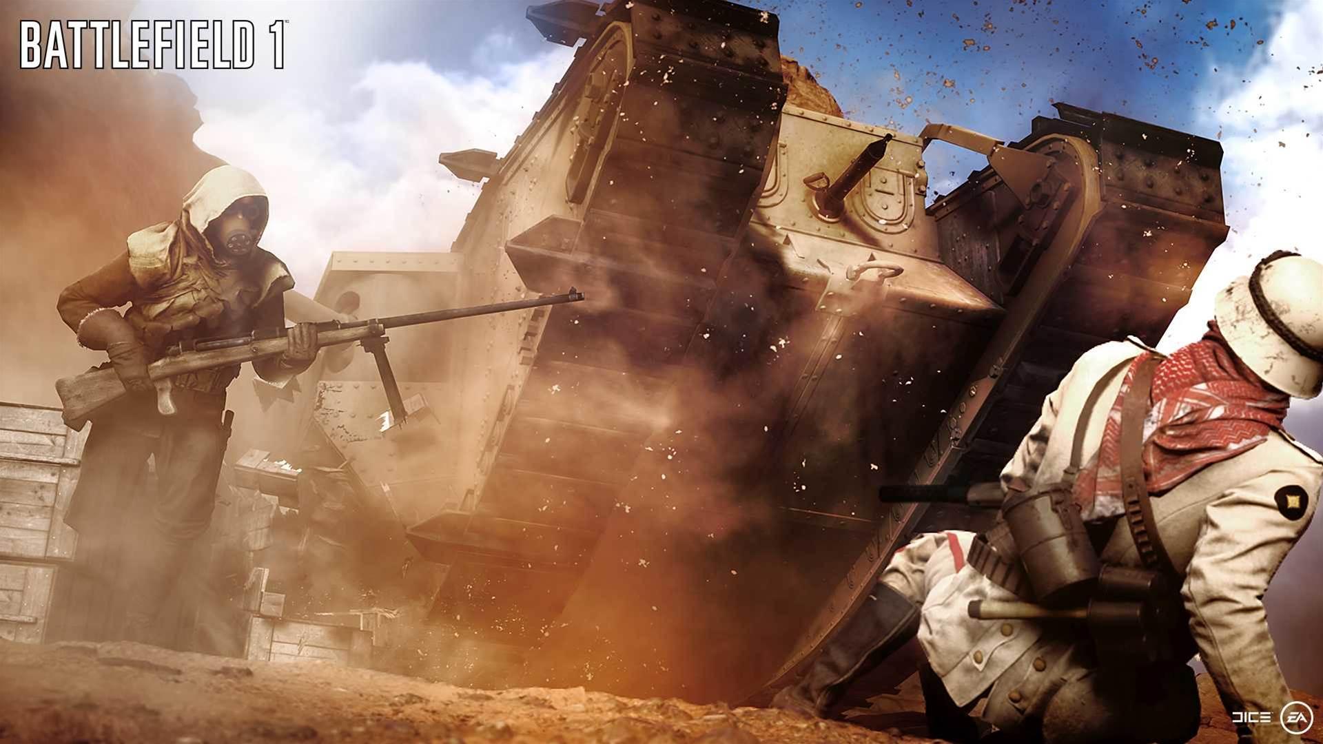 Beautiful Battlefield 1 game engine shots
