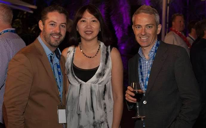 Who was at NEC's sales kickoff conference?