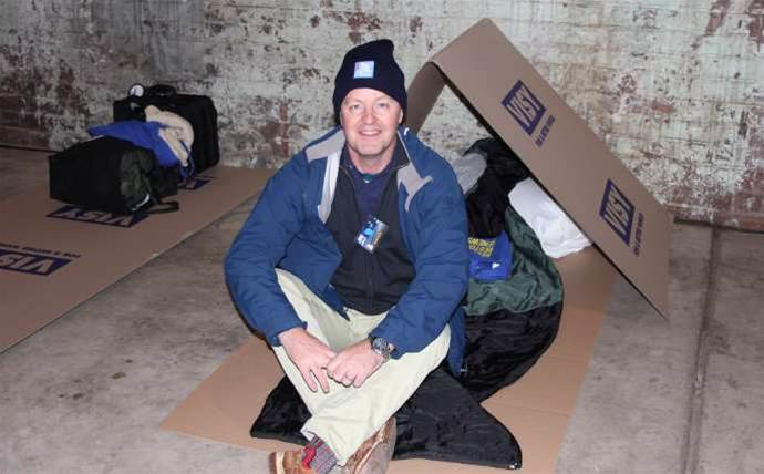 Channel leaders brave the cold at CEO Sleepout