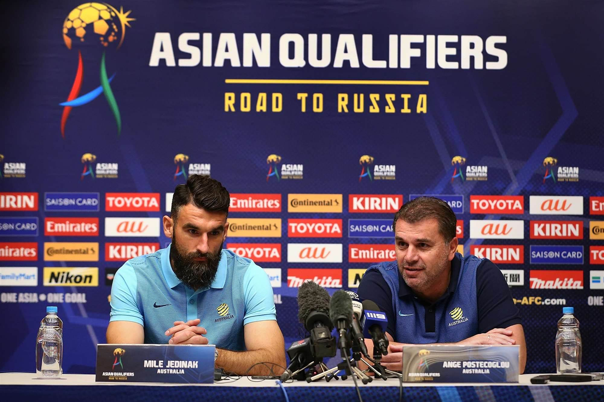Socceroos press conference pics
