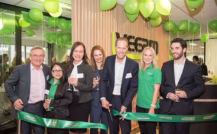 Which partners helped Veeam launch its new North Sydney HQ?