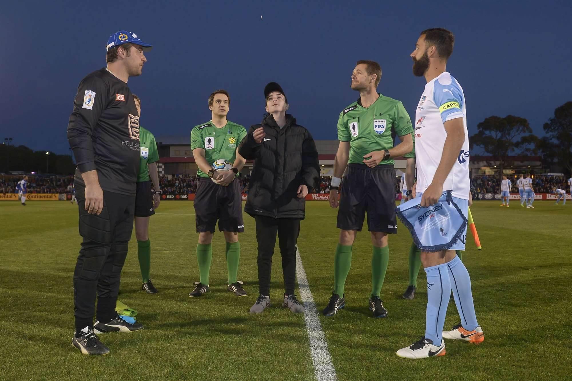 Canberra Olympic v Sydney FC match action