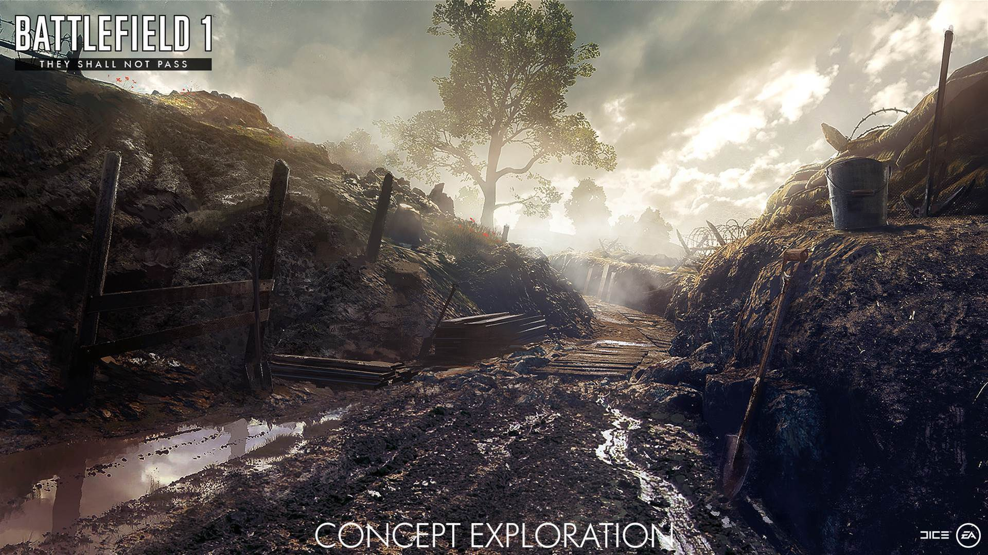 Concept art from Battlefield 1's upcoming They Shall Not Pass DLC