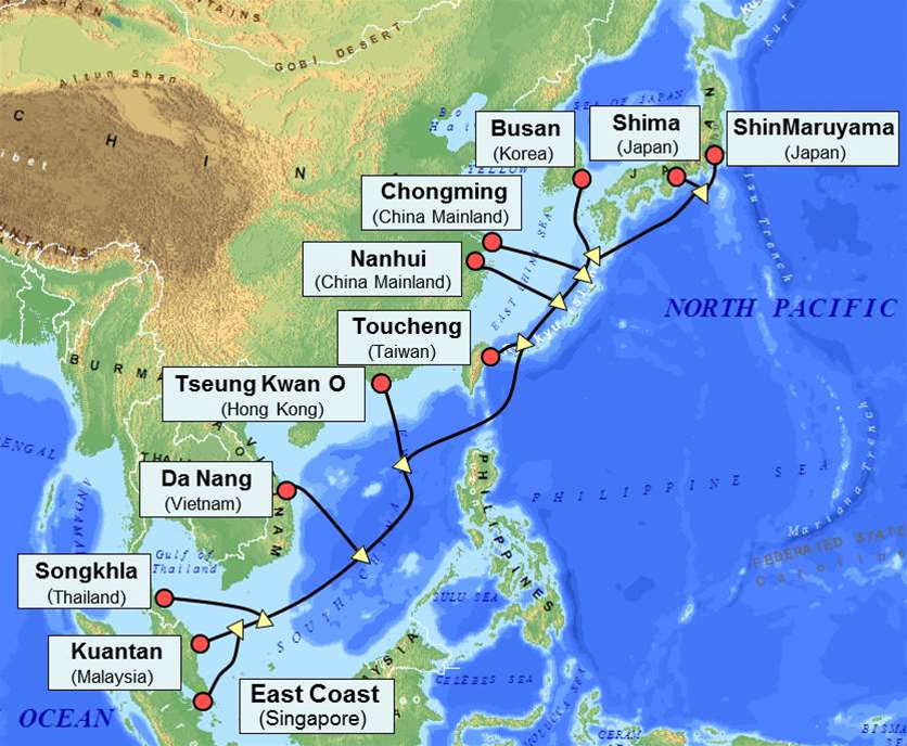 Service opened on new Asia Pacific cable