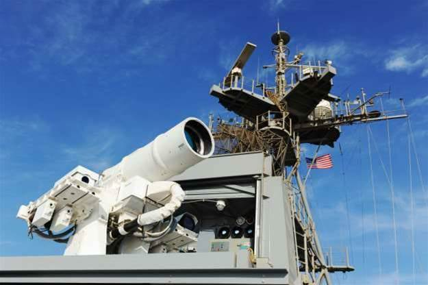US Navy operates new ship-based laser in Arabian Gulf