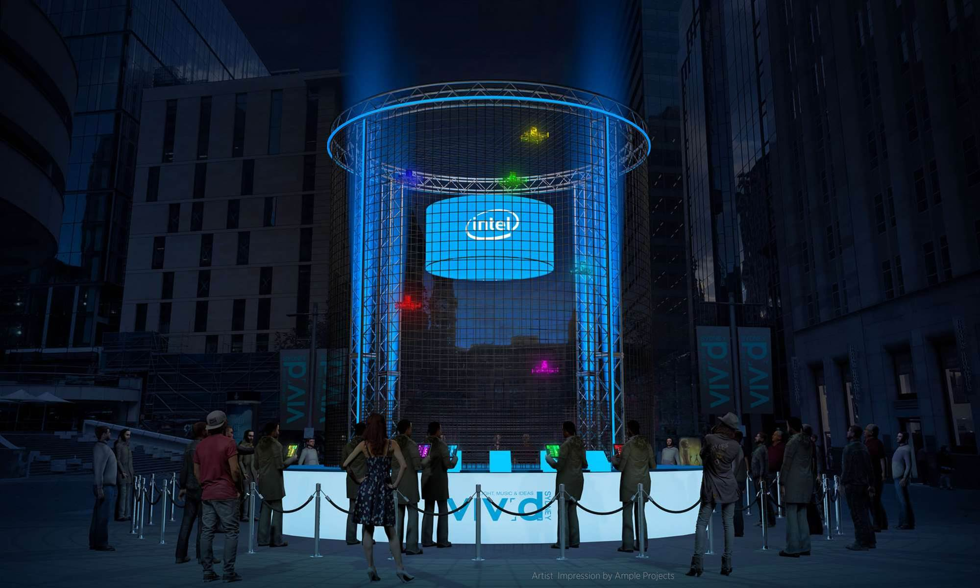 Intel brings its Game of Drones to this year's Vivid Sydney