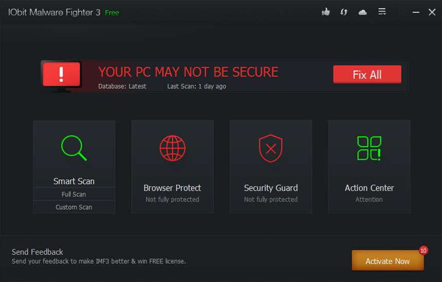 IObit Malware Fighter 3 Free extends browsing protection