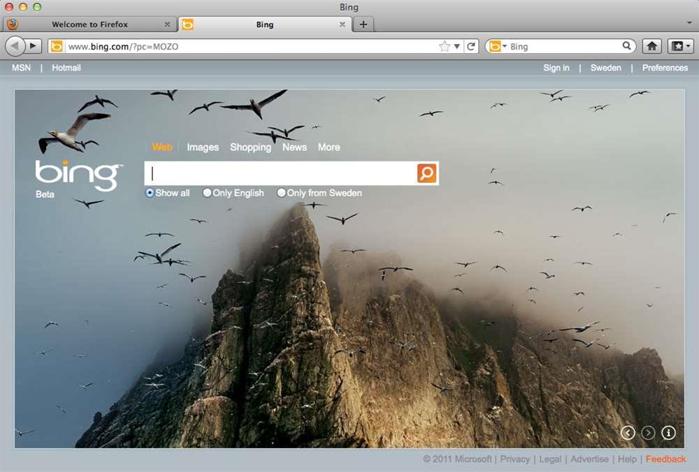 Mozilla release Firefox Bing edition