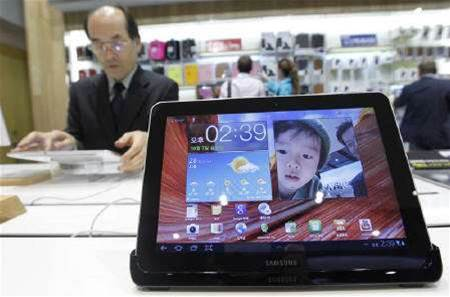 Samsung alters tablet design in Germany