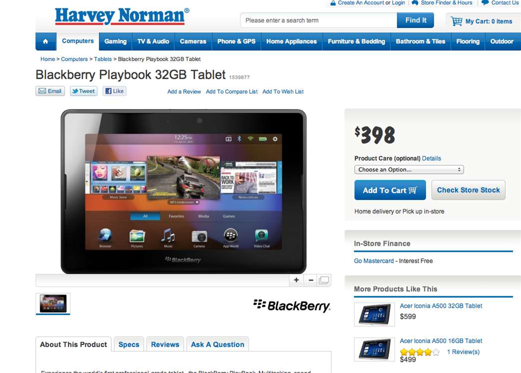 Tech deals: Buy a BlackBerry from Optus, get a free PlayBook tablet