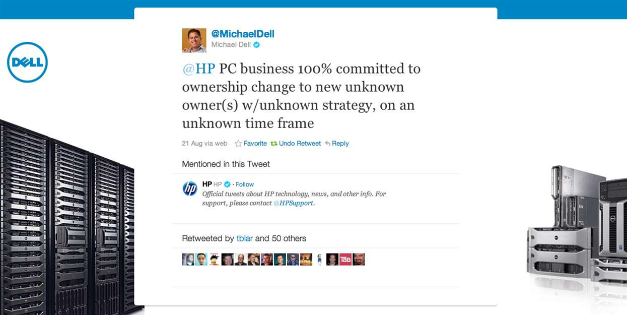 Michael Dell's four-day spray at HP