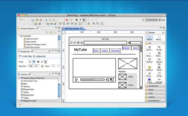 Create quick interface mock-ups with WireframeSketcher