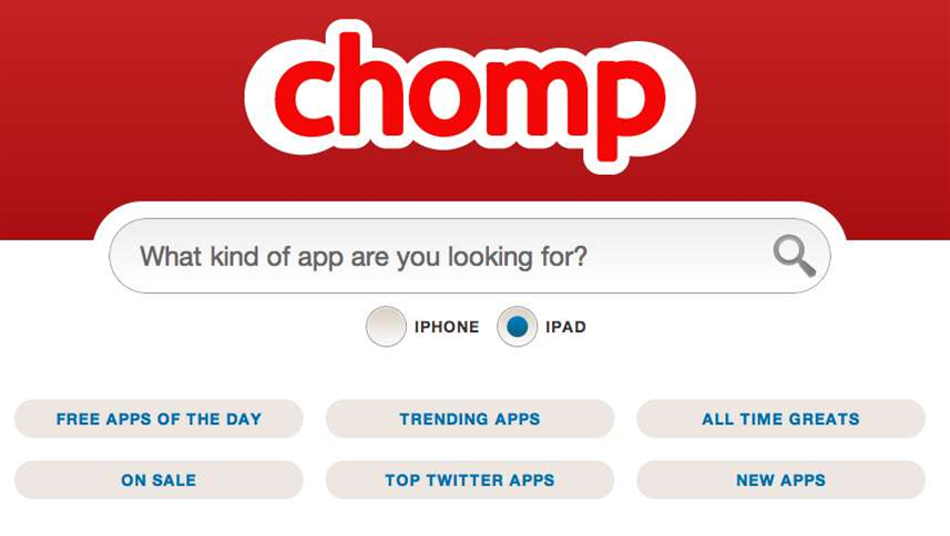 Apple spits Chomp's Android app search