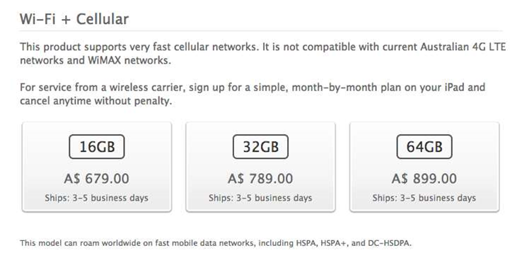 Apple drops 4G claim from iPad marketing