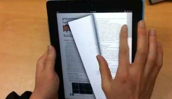 Future tech: Multi-touch ebook interface concept demoed on iPad