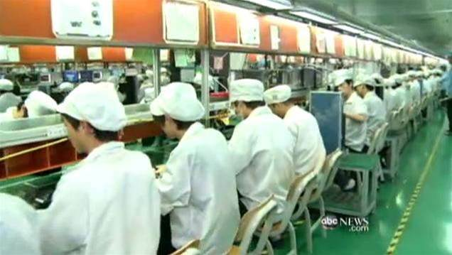 Foxconn fights sweatshop image