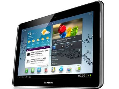 MWC 2012 – Samsung Galaxy Tab 2 10.1 shows its rectangular face