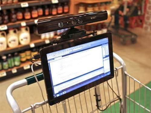 Future tech: Kinect shopping trolley trialed