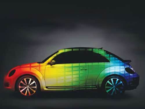 A car that changes colour and a 3G smart key grace Beijing Motor Show