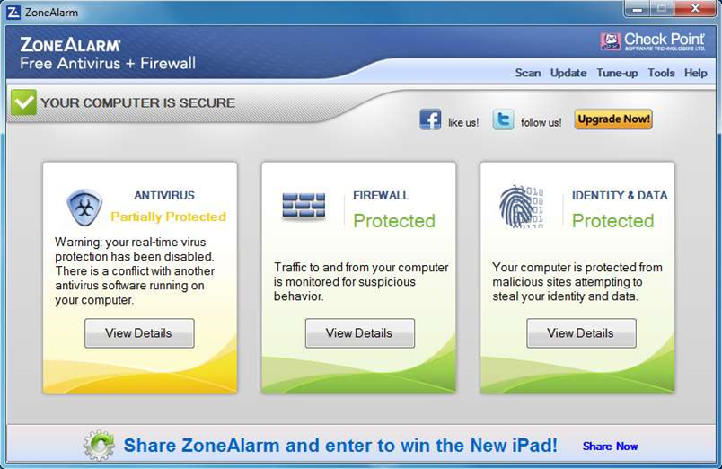 Check Point reveals ZoneAlarm Free Antivirus + Firewall
