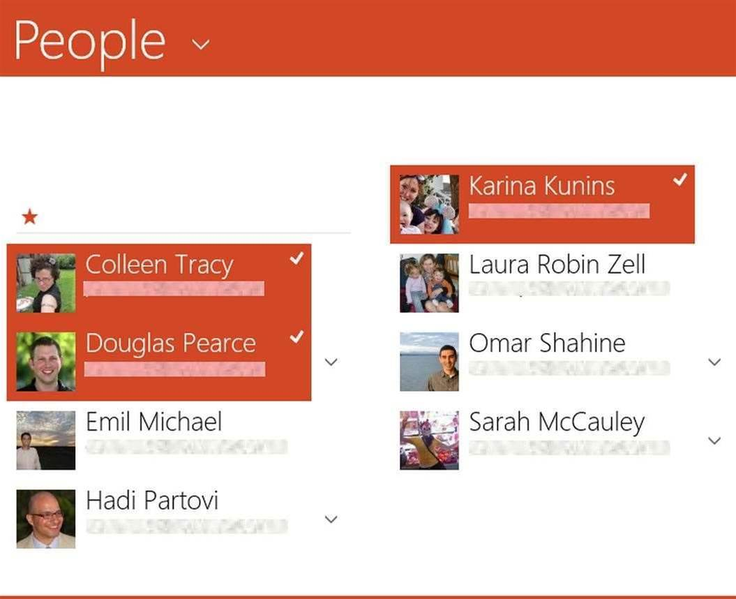 Windows 8 gets even more touchy-feely with People app